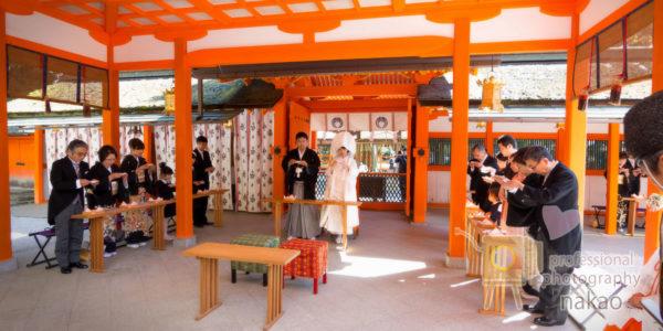 結婚式プラン 吉田神社様での挙式風景