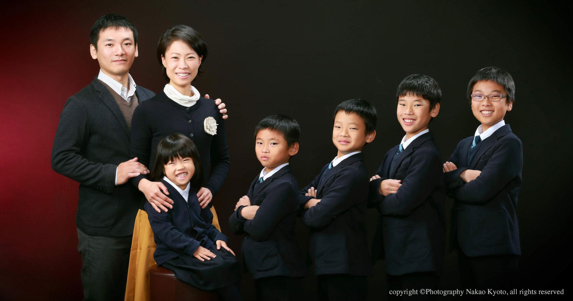 家族写真 5人兄妹大集合