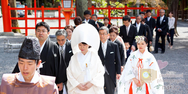 挙式お支度セット 結婚式場への行進